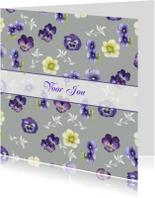 Zomaar kaarten - Voor Jou bloemen in zilver