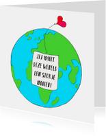 Vriendschap kaart mooie wereld