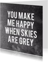 Vriendschap quote skies are