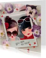 Vriendschap kaarten - Vriendschap You are so Nice -LT
