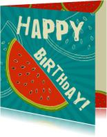 Verjaardagskaarten - Watermeloen verjaardag