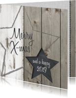 zakelijk kerstkaart ster hout