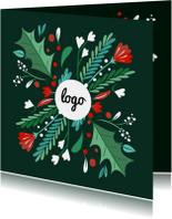 Zakelijke kerstkaarten - Zakelijke kerstkaart illustratiekrans