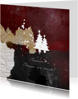 Zakelijke kerstkaart kerst abstracte bergen