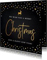 Zakelijke kerstkaart met gouden confetti
