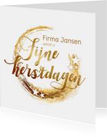 Zakelijke kerstkaarten - zakelijke kerstkaart sterren goud logo