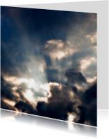 Condoleancekaarten - zonnestralen vanuit wolken