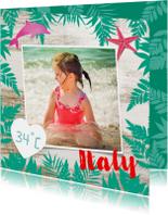 Zonnige vakantiegroeten voor een strandvakantie