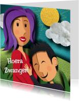 Felicitatiekaarten - Zwanger - Felicitatiekaart