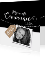 Zwartwit kraft communie-isf