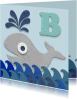 Geslaagd kaarten - Zwemdiploma walvis B