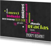 Bedankkaartjes - 15301 Bedankt Krijtbord
