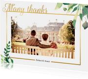 Bedankkaart Stijlvol wit met goud