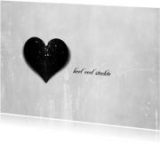 Condoleancekaarten - Condoleancekaart Zwart Hart