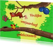 Kinderkaarten - felicitatie aap -JB