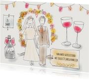 Felicitatiekaarten - Felicitatie Huwelijk Illustratie