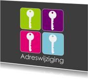Verhuiskaarten - Frisse sleutel  verhuiskaarten