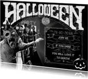 Halloween Zombie Uitnodiging ds