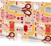 Zomaar kaarten - Happy sewing