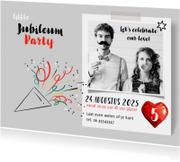 Jubileum uitnodiging borrel party