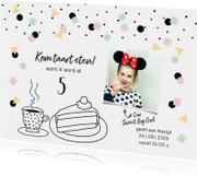 Kinderfeestje hip confetti illustratie taart