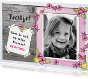 Kinderfeestje meisje foto bloemen