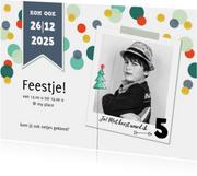 Kinderfeestjes - Kinderfeestje uitnodiging kerst jongen confetti