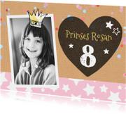 Kinderfeestje uitnodiging meisje sterren