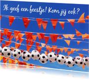 Kinderfeestje voetbal vlaggetjes