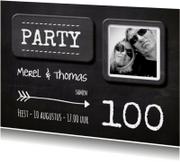 Uitnodigingen - Uitnodiging Krijtbord uitnodiging hip 100 aanpasbaar