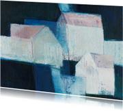 Kunstkaarten - Kunstkaart witte huizen