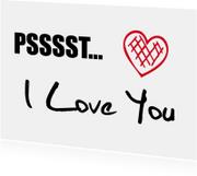 Liefde kaarten - Liefde kaarten - I Love You