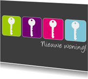 Verhuiskaarten - nieuwe woning sleutels