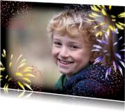 Nieuwjaarskaart met vuurwerk