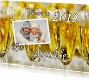 Nieuwjaarskaart Sparkling New Year Cheers 2019