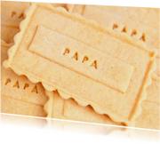 Papa op zelfgebakken koekje
