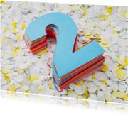 Felicitatiekaarten - Papieren bruiloft - twee jaar getrouwd