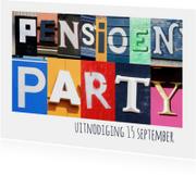 Pensioen party uitnodiging