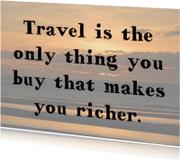 Reizen maakt rijk