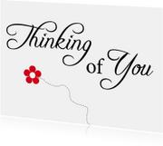 Condoleancekaarten - Rouwkaart - Thinking of You