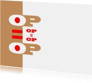 Kaarten mailing - sale informeer uw klanten op is op