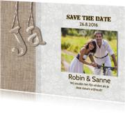 Save the Date 'Ja' linnen