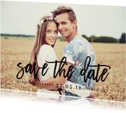 Save the date tekst zwart