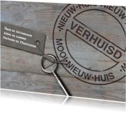 Sloophout sleutel en stempel
