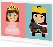 Sprookjes kaart prinses en prins