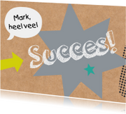 Succes kaarten - Succeskaart-Good luck!-HK