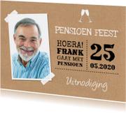 Uitnodiging pensioen feest kraft foto typografie
