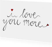 Valentijnskaart tekst love you