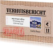Verhuisbericht - kartonlook met foto