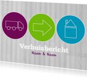 Verhuiskaarten - Verhuiskaart iconen